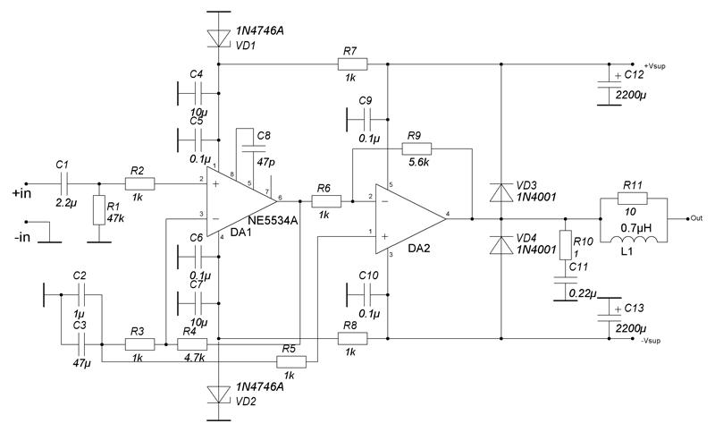 Ne5534 схема буфера